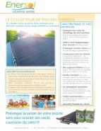 Enersol Collector Specification Sheet in French