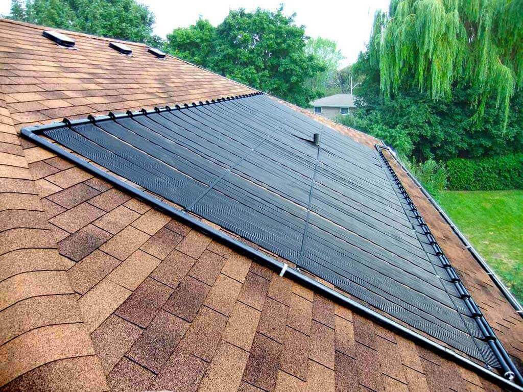 Enersol Solar Pool Heater Residential Roof Installation facing south