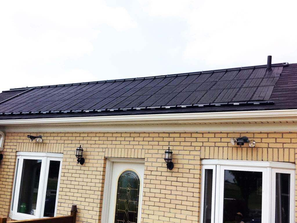 Enersol Solar Pool Heater Residential Roof Installation
