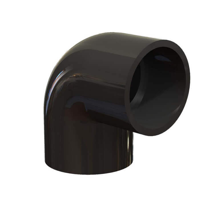Black PVC 90 degree elbow Schedule 40  sc 1 st  Enersol Solar Pool Heater : black pvc pipes - www.happyfamilyinstitute.com